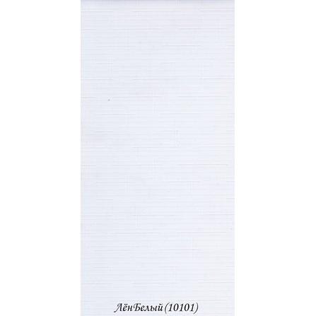 """Рулонні штори """"Льон 1.01.01 Білий"""""""